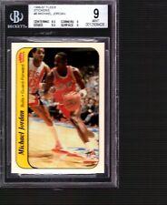 1986-87 Fleer MICHAEL JORDAN Rookie Rc STICKERS #9 BGS 9 MINT (EDGES 9.5)