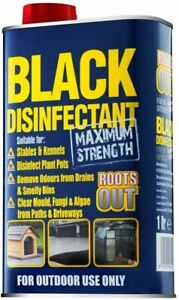 1L ROOTS OUT MAX STRENGTH OUTDOOR BLACK DISINFECTANT BIN DRAIN MOULD PATH CLEAN