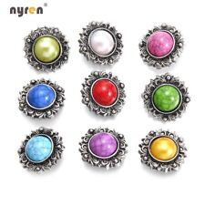 9pcs 18mm Snap Button Turquoise Charms Multi Color For 20mm Snap Jewelry 1194