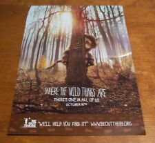 WHERE THE WILD THINGS ARE PROMO POSTER NEW