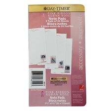 """Day-Timer Organizer Accessory Pink Ribbon Note Pad, 3 3/4"""" X 6 3/4"""" - 2 Pads"""