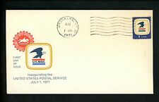 US FDC #1396 USPS 7-1-71 New York NY BROOKLYN Machine cancel 32-0214