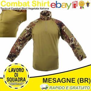 Tactical Combat Shirt Maglietta Tattica Vegetata Italiana Poliestere Ripstop