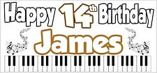 Keyboard 14th Birthday Banner x 2 Party Decorations Boys Girls Teenager ANY NAME