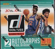 IN STOCK 2018-19 Panini Donruss Basketball Sealed Hobby Box New Jumbo 2 AUTOS!