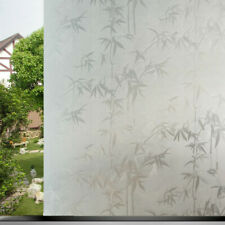 3D Bamboo Stained Window Films Self-adhesive Clings Frosted Sticker Modern Decor