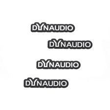 DYNAUDIO set of 3D Stickers Plaque of Aluminum Emblems Speaker Boxes 4 Pieces