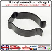 Black Desmo Fiamma Island Table Leg Clip Spring Storage Clip Motorhome Caravan
