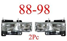 88 98 Chevy GMC Truck 2Pc Composite Head Light Set Tahoe Yukon Suburban Blazer