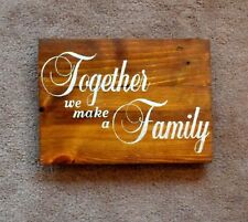 Handmade Reclaimed Pallet Sign Family Theme Cedar Stain Hand Painted Plaque