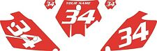2003-2004 KTM 200 SX Custom Pre-Printed Red Backgrounds with White Numbers