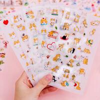 HN- FP- Cartoon Dog Children Stickers Diary Scrapbook Book Wall DIY Adhesive Dec