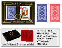 DA VINCI Ruote 100% Plastic Playing Cards - Poker Size Regular Index