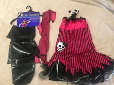 Womens Halloween Costume Sexy Pirate Size 10 To 14 Pink Black