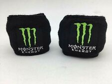 MONSTER ENERGY RESERVOIR SOCKS BRAKE/CLUTCH FLUID TANK COVER BLACKGREEEN SET