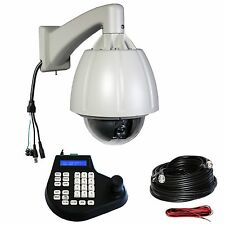 "7"" 264x zoom CCTV Hi-Speed PTZ Camera with Keyboard Controller Security System"