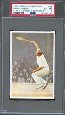 1932 Sanella Margarine Card #96 DANIEL PRENN Centered TENNIS Player PSA 6 Pop 1