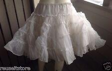 FASHIONS by NITA SMITH Square Dance Petticoat Skirt WHITE Tutu VTG Swing Western