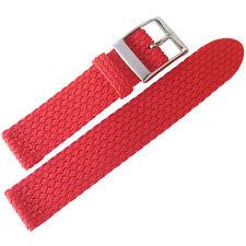 20mm Eulit PALMA PACIFIC Red Two-Pc Woven Nylon Perlon German Watch Band Strap