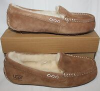 UGG Ansley Chestnut Suede Moccasin Shoes New With Box!