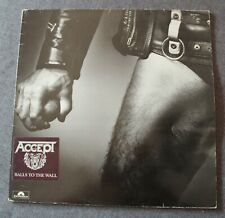 Accept, balls to the wall, LP - 33 tours + insert poster