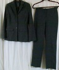 The Limited Pant Suit Gray Jacket XS Pants 4 Polyester Blend