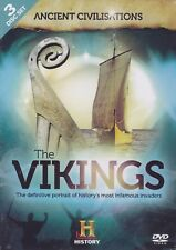 FASCINATING LOOK AT THE VIKINGS INFAMOUS INVADERS 3 x DVDs ANCIENT CIVILISATIONS