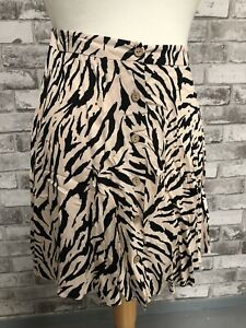 New Look Zebra Print Skirt New with Tags Size 12 Ladies Girls