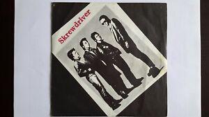"SCREWDRIVER Anti-Social UK 1977 1ST PRESS 7"" VINYL SINGLE MINT Chiswick OI Punk"