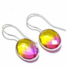 """Ametrine Gemstone 925 Sterling Silver Jewelry Earring 1.4"""" F2567"""
