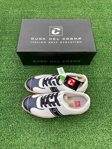 Brand New Mens Duca Del Cosma Spiked Italian Made Golf Shoes 6.5 UK, 40.5 EU