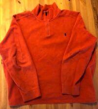 Men's Polo Ralph Lauren Orange 1/4 Zip Pullover XXL Sweater
