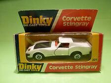 DINKY TOYS 221 CHEVROLET CORVETTE STINGRAY - RARE SELTEN - GOOD COND. IN BOX