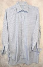 Charles Tyrwhitt Mens Size 16 1/2-33 Button Up French Cuff Gray Plaid Cotton G18