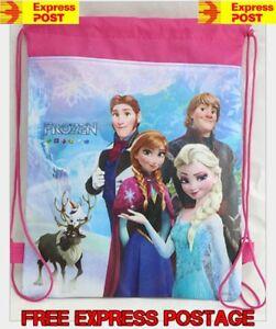 New Frozen Children Kids Drawstring Backpack School Swimming Bag Sleeve Hand .