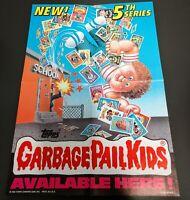1986 GARBAGE PAIL KIDS 5th SERIES 5 GPK OS5 PROMO POSTER AD RETAIL DISPLAY WAX