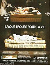 PUBLICITE ADVERTISING 106  1973  les matelas Simmons