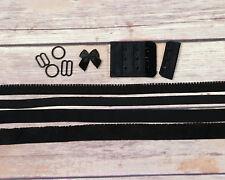 Bra Making Findings Kit in Black Wide Bramaking Lingerie Sewing
