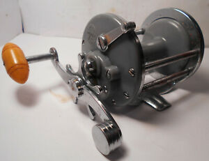 Vintage PENN Reels MONOFIL No. 25 GREY GRAY Saltwater Conventional Fishing Reel