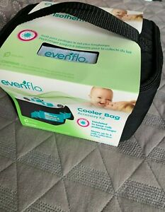 Evenflo Insulated Cooler Bag Accessory Kit w/ Collection Bottles and Ice Packs