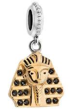 Chamilia 925 Silver & Gold King Tut Charm Bead Egyptian Egypt Swarovski Crystal