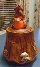 Vintage California Originals Bear on a Stump Cookie Jar