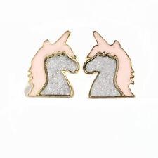 Girls Unicorn Earrings Pony Horse Childrens Jewellery Gift 8C