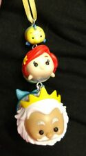 Disney Tsum Tsum stacked Little Mermaid Christmas Ornament Ariel, Triton