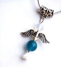 Apatite Crystal Guardian Angel Pendant on Silver Cord - 3rd Eye