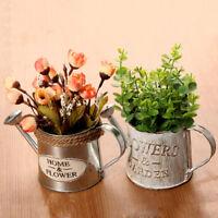 vintage flower pot succulent planter metal plant bucket vertical garden decorCJB