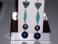 D&G Dolce & Gabbana Geometric Dangling Beaded Earrings DJ0802