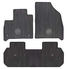 2018-2019 Buick Enclave Front & 2nd Row Premium All Weather Floor Mats Black OEM