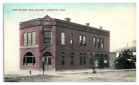 Early 1900s First National Bank, Lamberton, MN Postcard