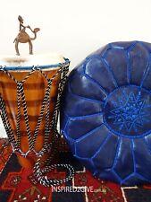 Moroccan Leather Ottoman Pouffe Pouf Footstool